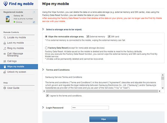 wipe my mobile screen
