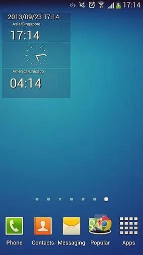 clock widget for note 5