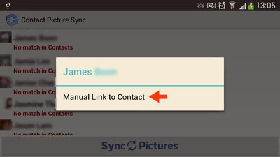 manual link to contact option