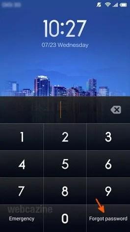 mi3 forgot password_1