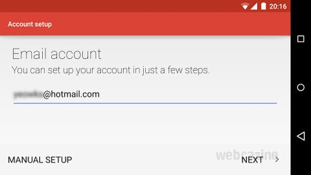how to set up hotmail
