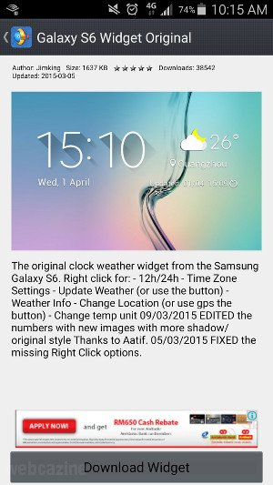 xwidget s6 weather clock widget_2