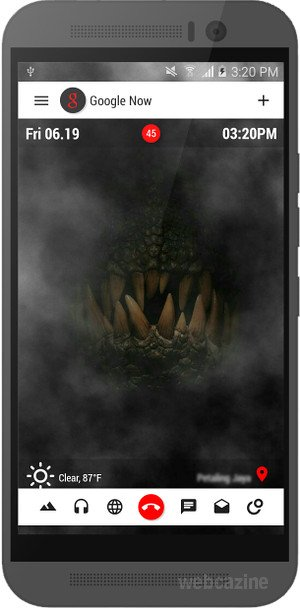 My home screen designs using the Jurassic World wallpapers - WEBCAZINE