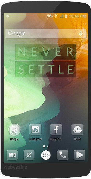 Home screen designs using the OnePlus 2 stock wallpapers - WEBCAZINE