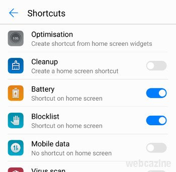 honor8 phone manager shortcut_1