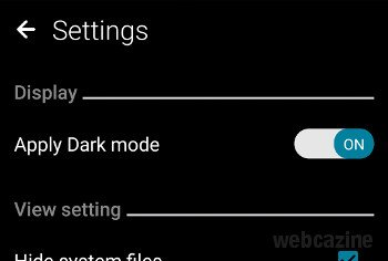 zenfone file manager dark mode