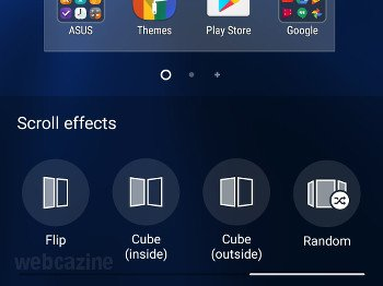 zenfone random scroll effect