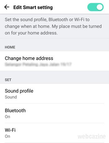 v20 smart settings at home