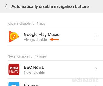miui automatic disable buttons