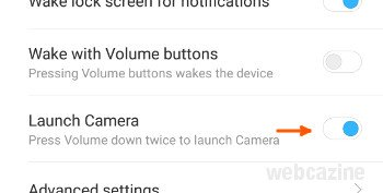 miui launch camera option