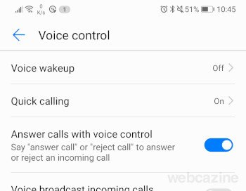 answer calls with voice control