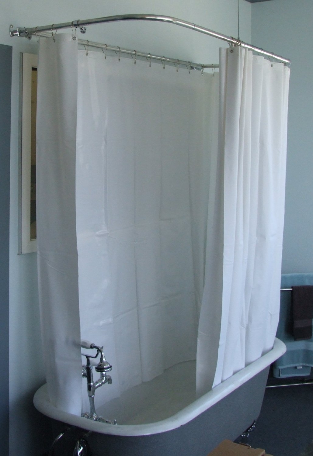 size of shower curtain for clawfoot tub shower curtain