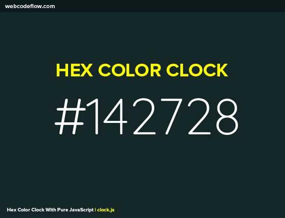 Hex-Color-Clock