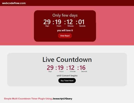 Multi-Countdown-Timer-Plugin