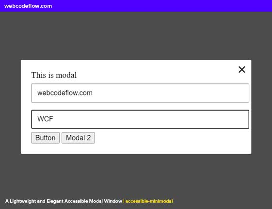 Accessible-Modal-Window