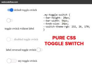Pure-CSS-toggle-switch