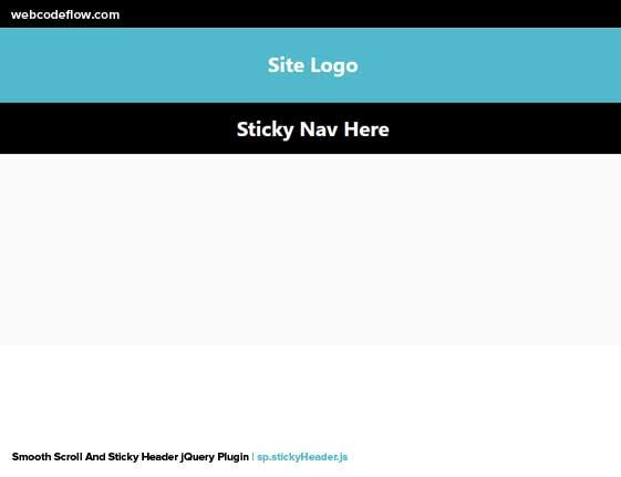 Sticky-Header-jQuery-Plugin