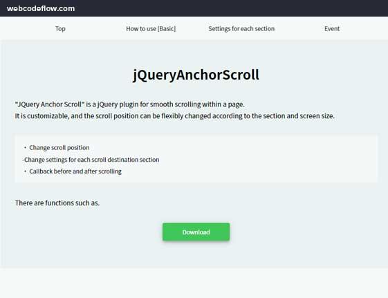 jQuery-Anchor-Scroll-Demo