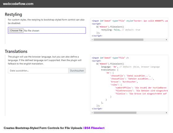 Bootstrap-Fileselect