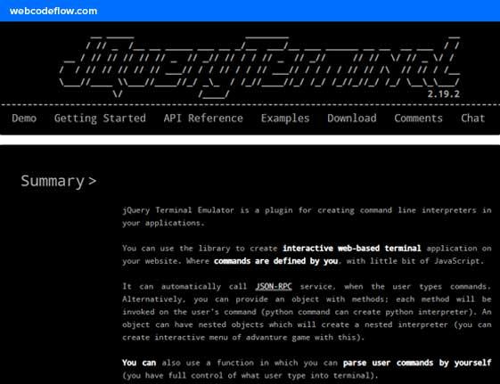 jQuery-Terminal-Emulator