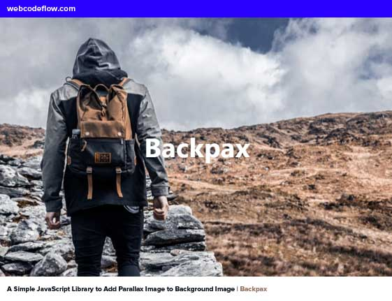 Parallax-Image-to-Background-Image-Backpax