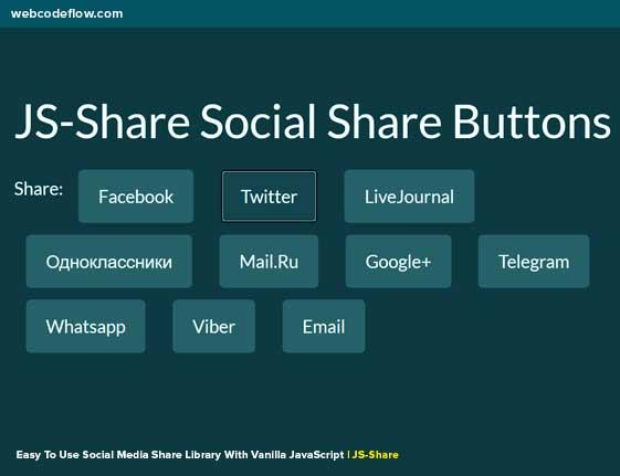 Social-Media-Share-Library