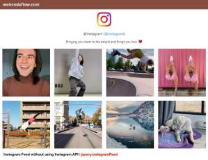 jquery-instagram-Feed
