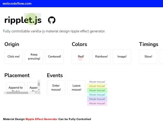 Material-Design-Ripple-Effect-Generator