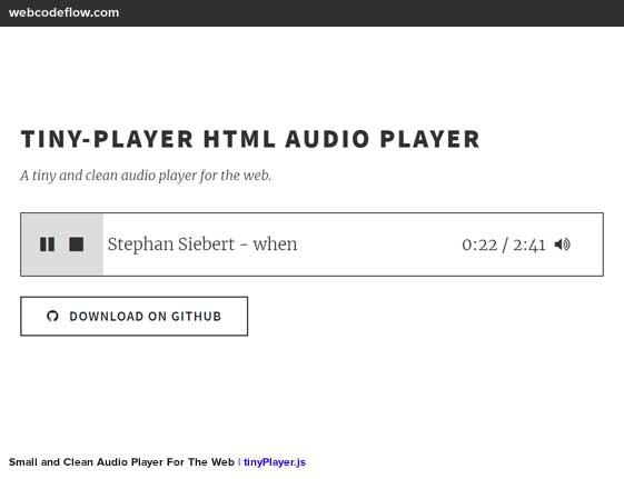 audio-player-tinyplayer