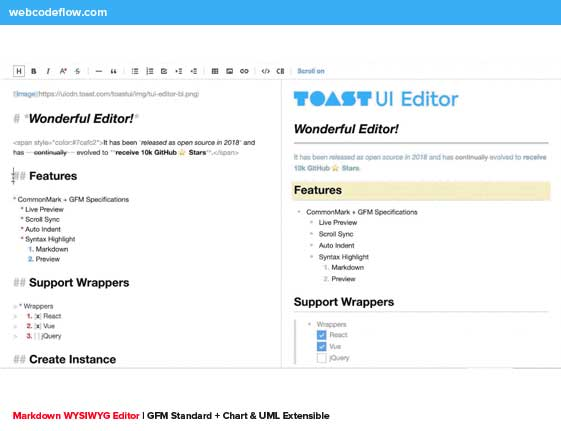 Markdown-WYSIWYG-Editor