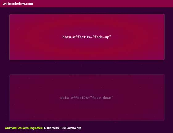 animate-on-scroll-effect-css