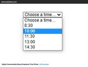 dropdown-time-picker-qctimepicker