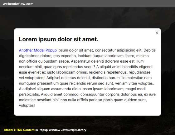 html-content-popup-window
