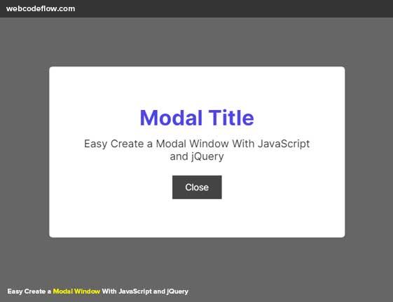modal-window-jquery-plugin