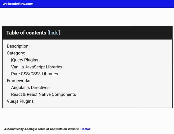 table-of-contents-toctoc