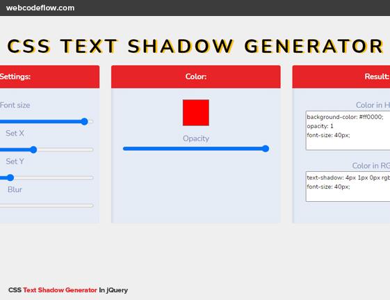 css-text-shadow-generator