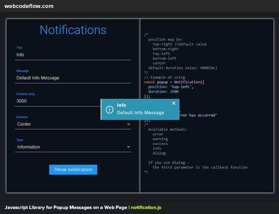 javascript-notification-popup-library