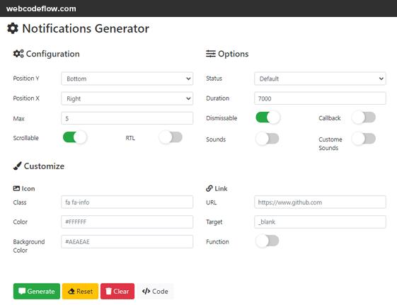 notification-generator-online