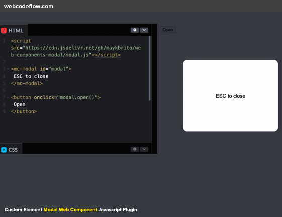 javascript-web-modal-library