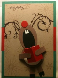 Singing Reindeerclassroom door decoration idea