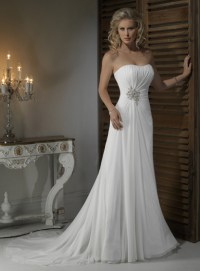 Gorgeous Strapless A-line Chapel Train bridal gowns,make ...