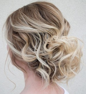 Low Loose Curly Updo For Thin Hair