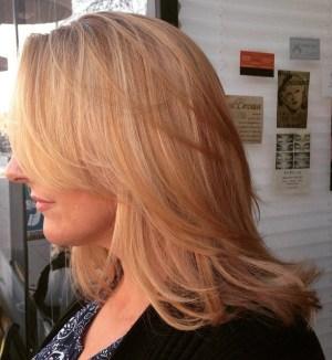Medium Layered Strawberry Blonde Hair