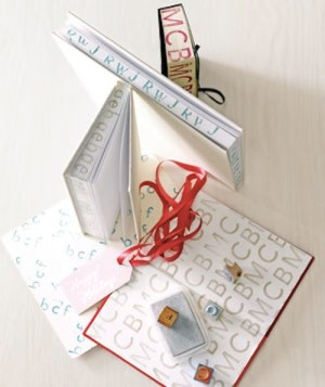 35 Easy DIY Gift Ideas That People Actually Want -- Monogrammed journal using alphabet stamps!