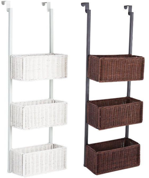 Over the door storage baskets…link also includes site to purchase other over the door storage for pantry