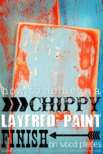 DIY Tutorial – Two step-by-step methods for creating this layered paint look are in this post. Detailed ph