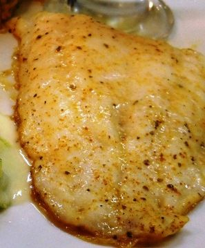 Tilapia – I halved all the seasonings and used 6 fillets instead of 4. Turned out great. Not too spicy for