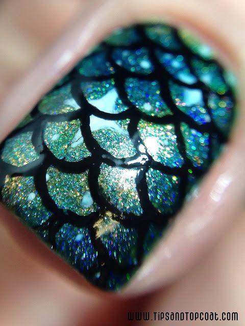 10 Classic Mermaid Nails art Designs