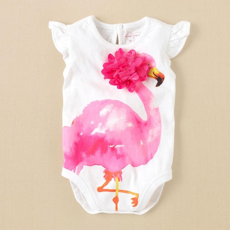 newborn – girls – flamingo bodysuit | Children's Clothing | Kids Clothes | The Children's Place