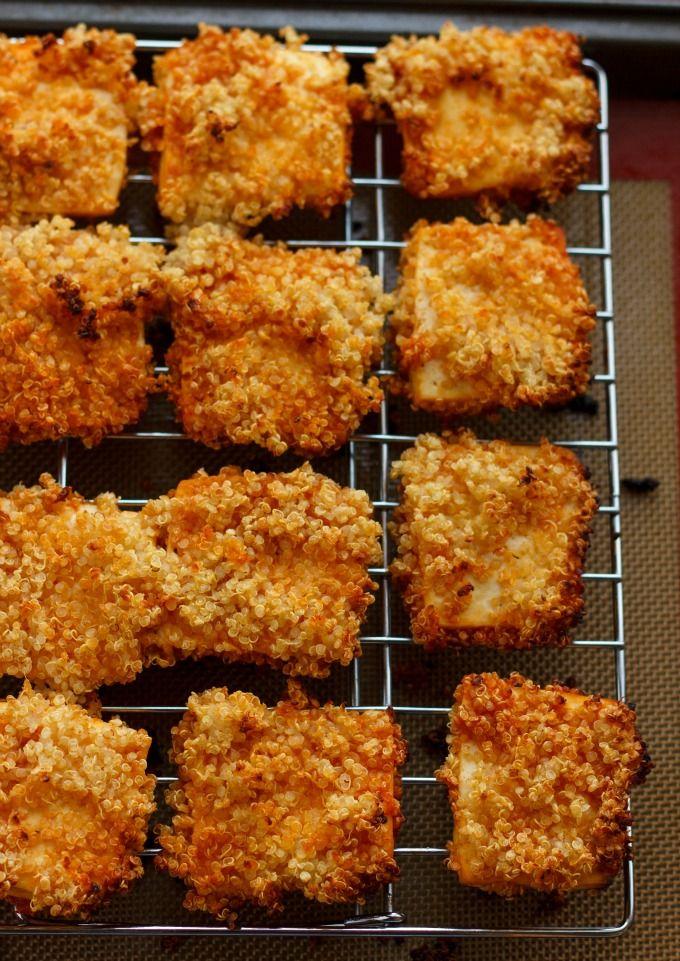 Quinoa Crusted Tofu Nuggets (Tofu Chicken Nuggets!) #tofu